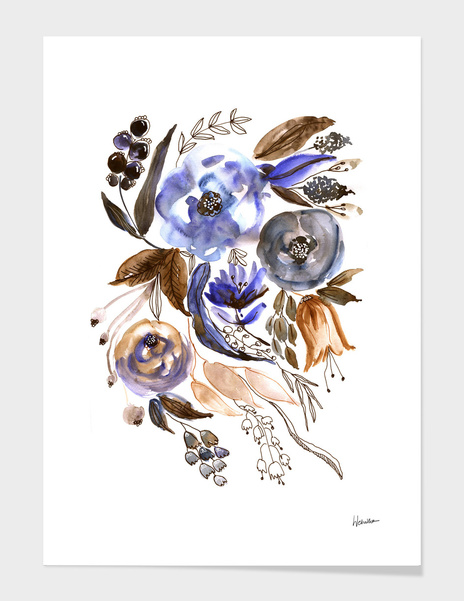 Watercolor Foral Composition main illustration