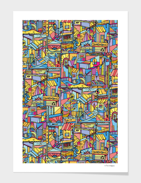 Slum urban main illustration