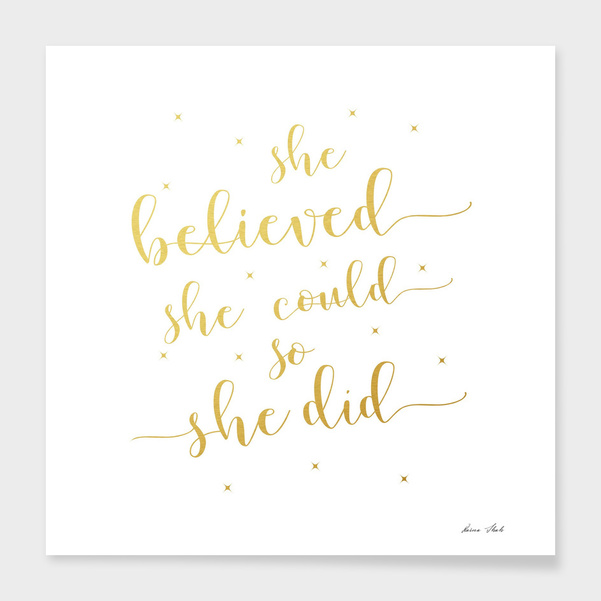 She Believed She Could So She Did main illustration