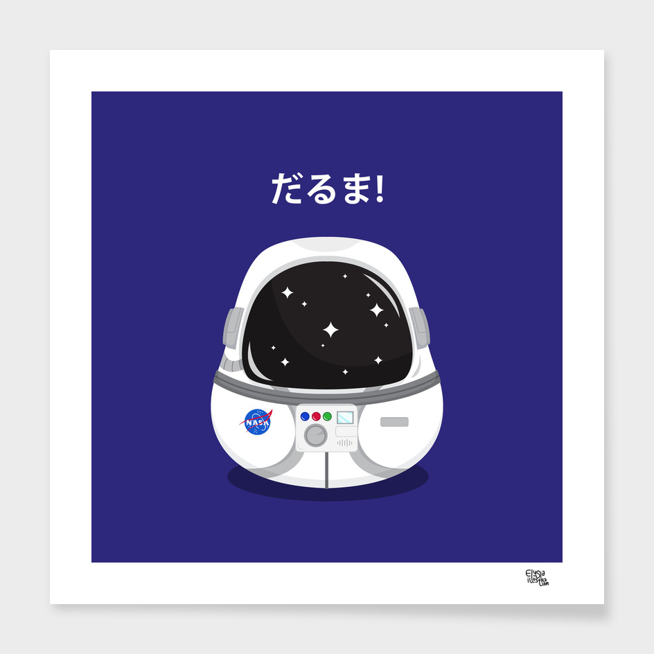 Astronaut Daruma main illustration