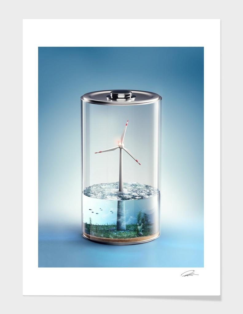 Economic Battery - Wind Energy main illustration