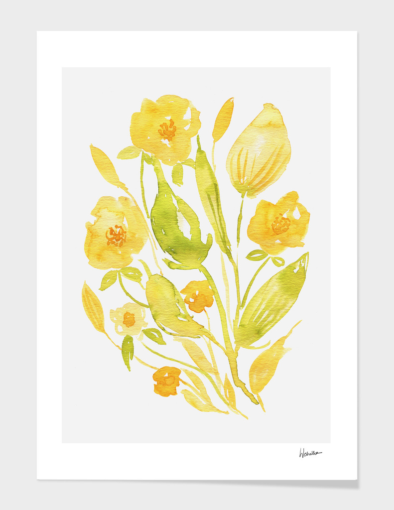 Watercolor Floral Composition nr 3