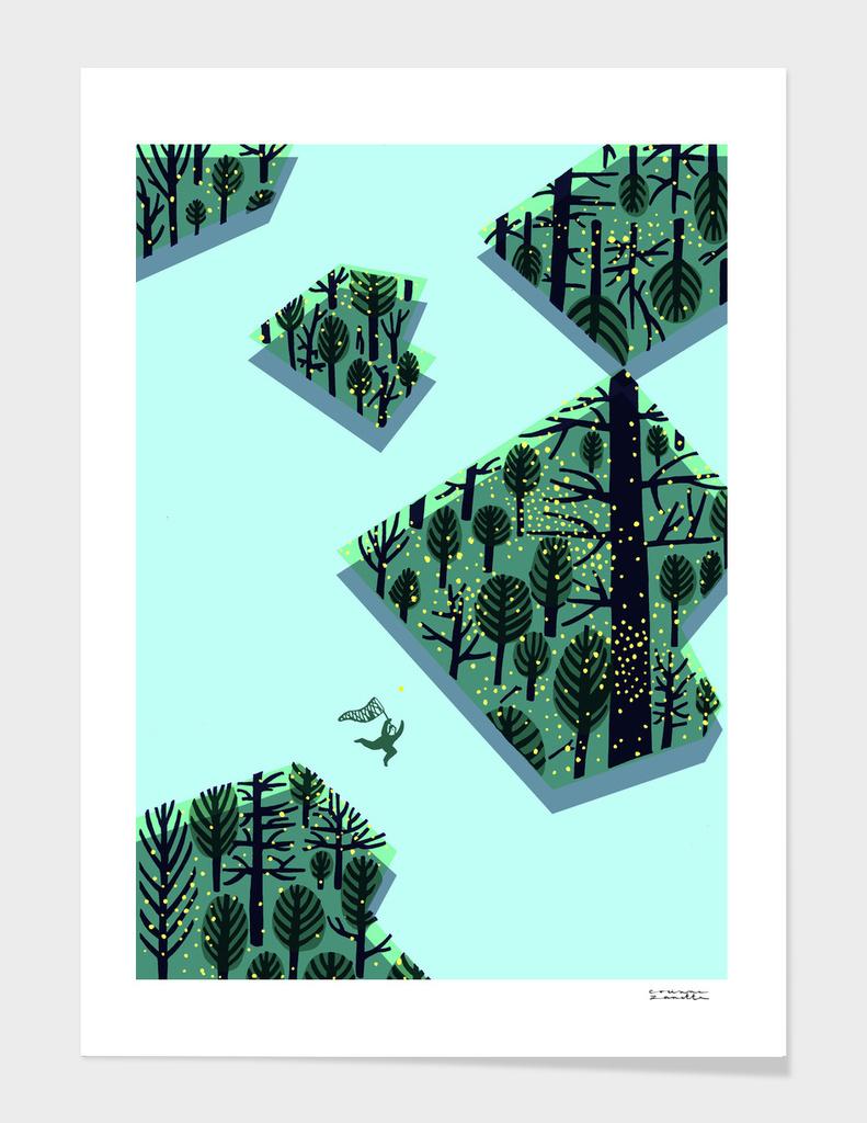 Chasing fireflies / A caccia di lucciole main illustration
