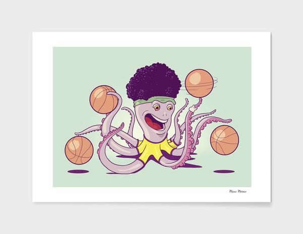 Basketball Octopus main illustration