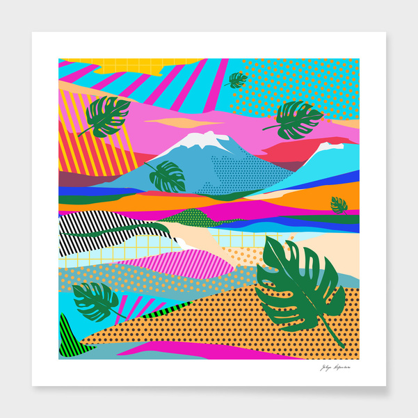 colors of mountain main illustration