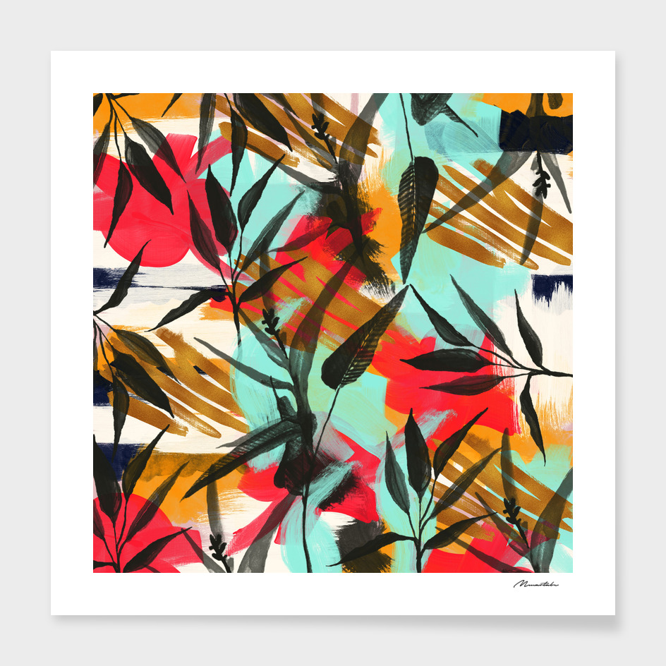 PLANT ABSTRACT PAINT main illustration