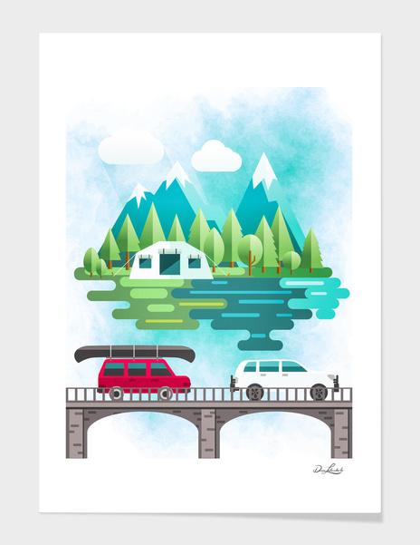 Road Trip - Camping main illustration