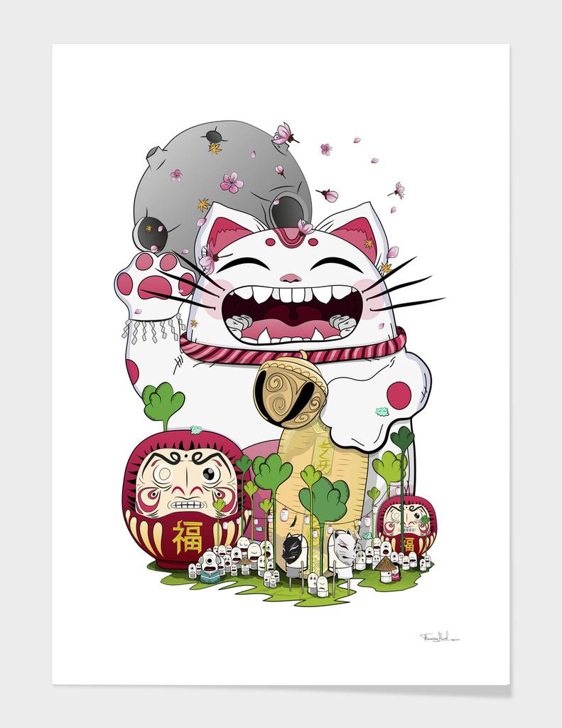 Maneki- neko & Daruma doll main illustration