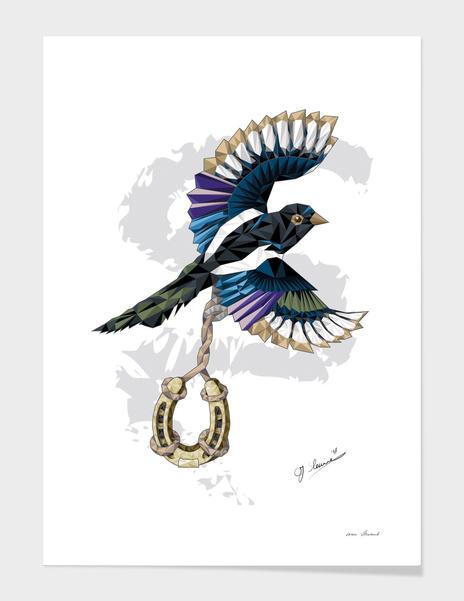 I love Polygon - Magpie colorful main illustration