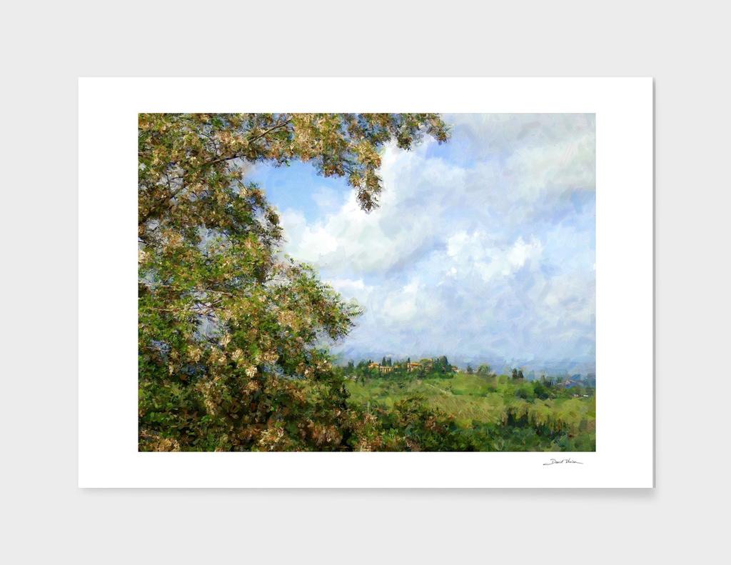 Tuscan landscape main illustration