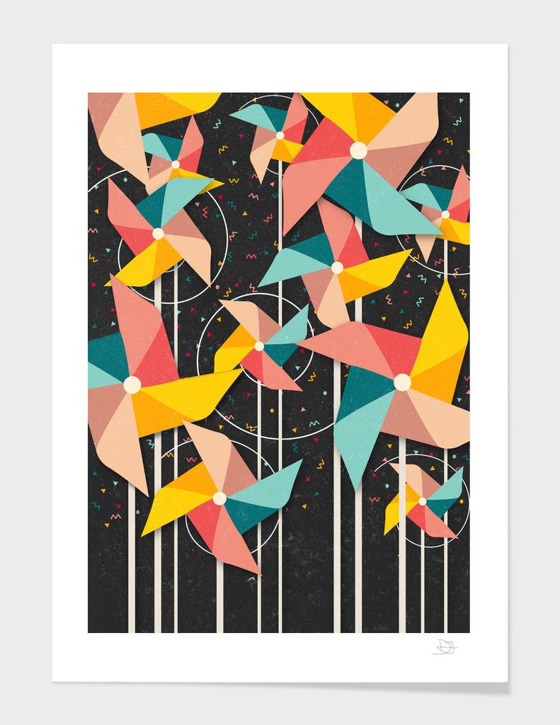 Colourful Pinwheels main illustration