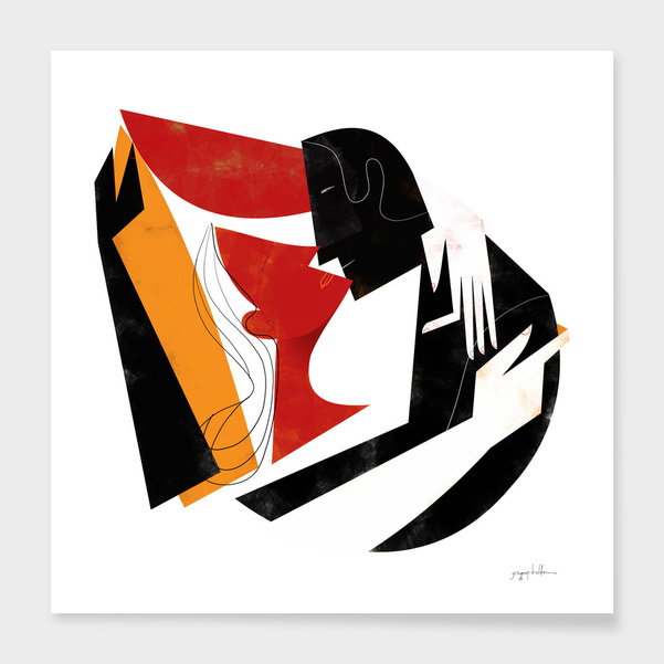 The Kiss II in Black Red and Orange main illustration