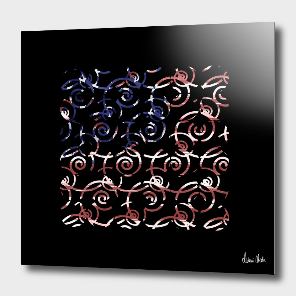 Abstract Forms | spiral USA banner no. 1 main illustration