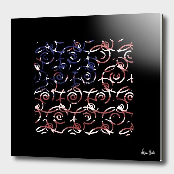Abstract Forms | spiral USA banner no. 1 main illustration