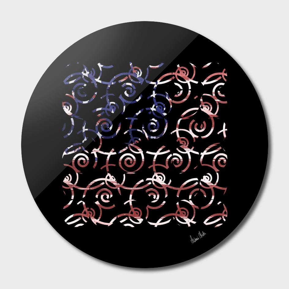Abstract Forms | spiral USA banner no. 1