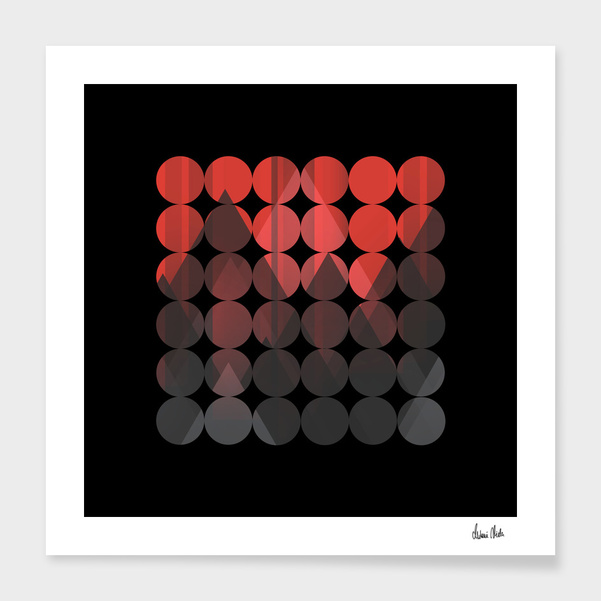 Abstract Geometric   red no. 1 main illustration