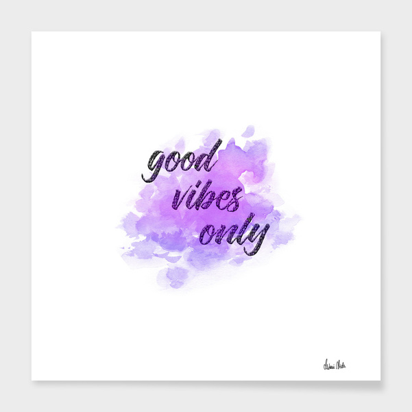 Trendy Phrases | good vibes only no. 1 main illustration