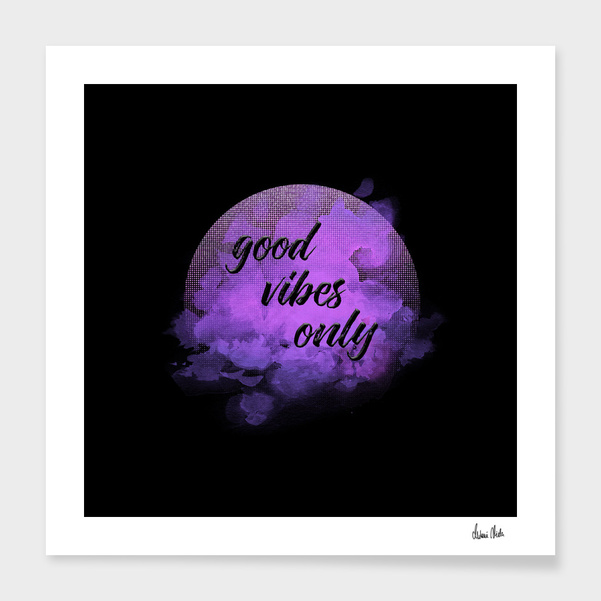 Trendy Phrases | good vibes only no. 2 main illustration