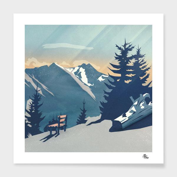 Mountain Sunrise (Pause II) main illustration