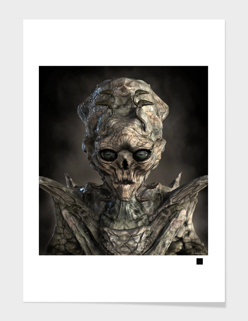 Alien Flesh Eater Portrait main illustration