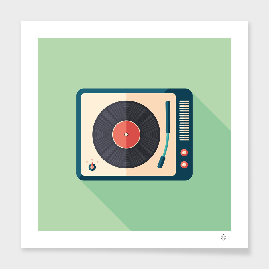 Vintage Turntable main illustration