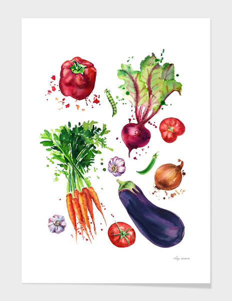 vegetables mix main illustration