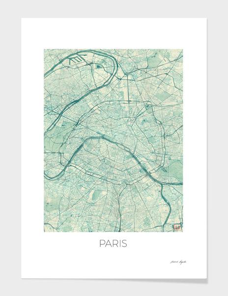 Paris Map Blue main illustration
