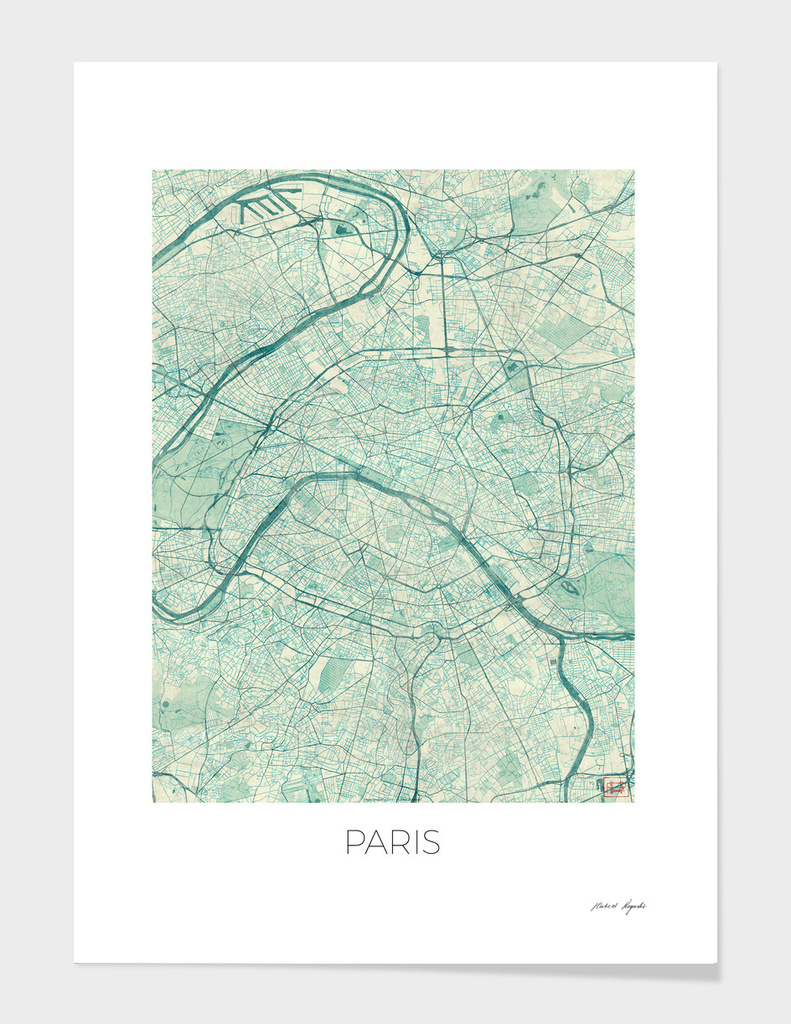 Paris Map Blue main illustration