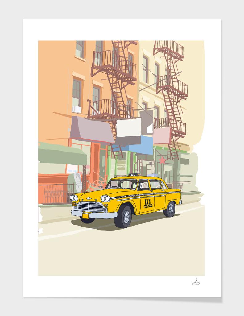 New York Taxi main illustration