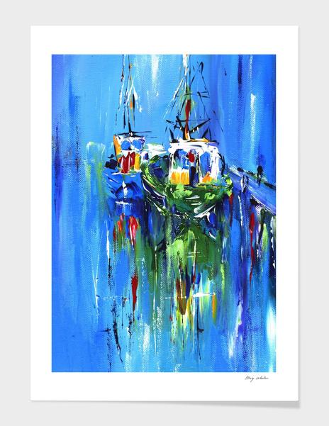 abstract boats main illustration