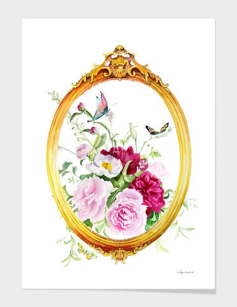 frame flowers main illustration