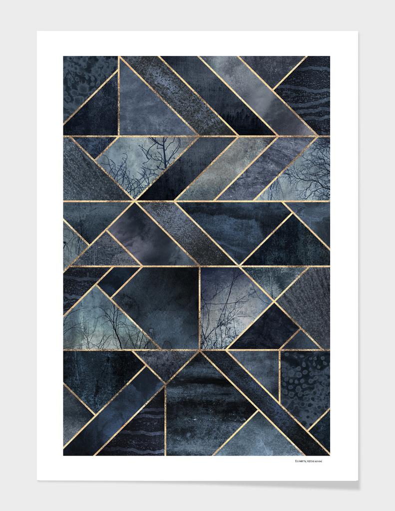 Abstract Nature - Dark Blue main illustration
