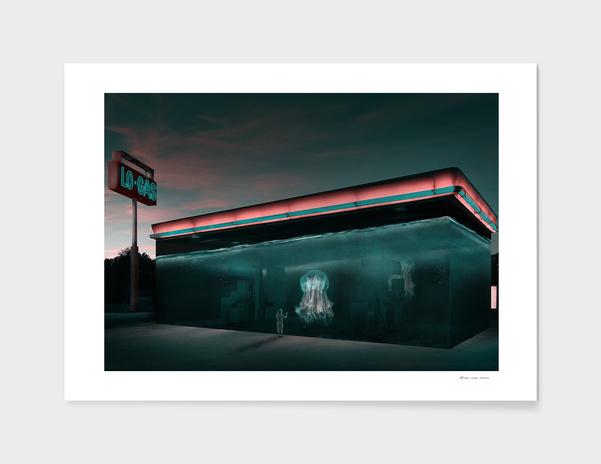 Sci-Fi Gas Station main illustration
