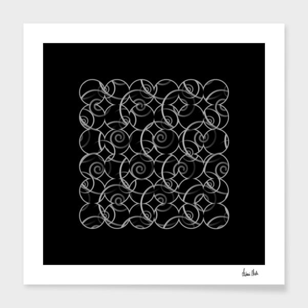 Abstract Circles | spiral pattern no. 7 main illustration