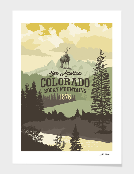 See America – Colorado Rocky Mountains main illustration