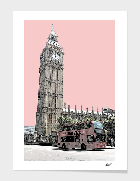London Big Ben main illustration