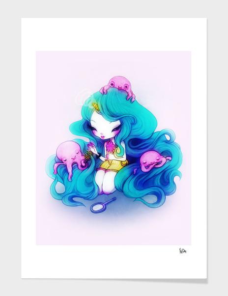 Ice Cream Octopus Queen main illustration