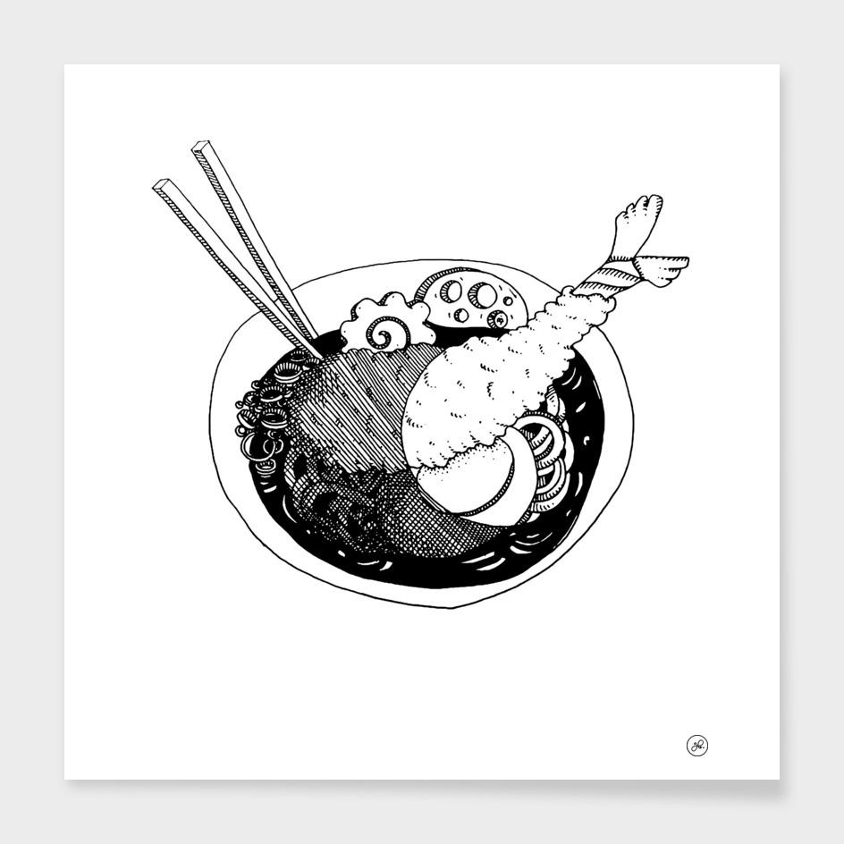Ramen & baguettes main illustration