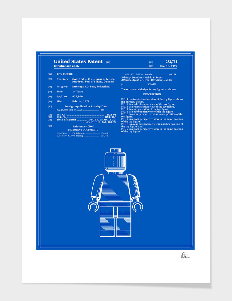 Toy Figure Patent v1 - Blueprint main illustration
