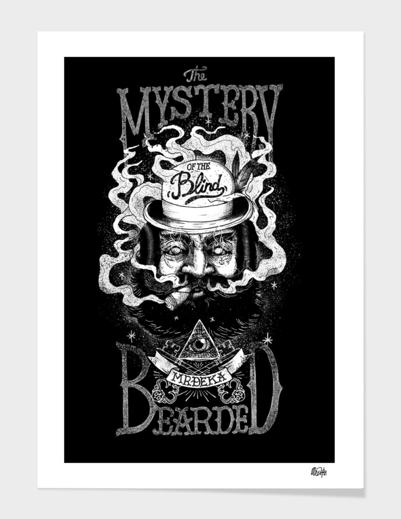 THE MYSTERY OF THE BLIND BEARDED main illustration