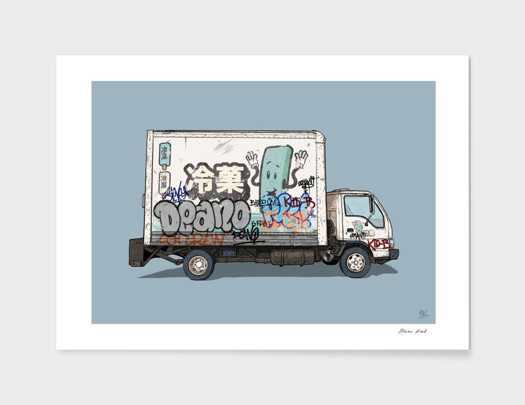 Japanese ice cream truck main illustration