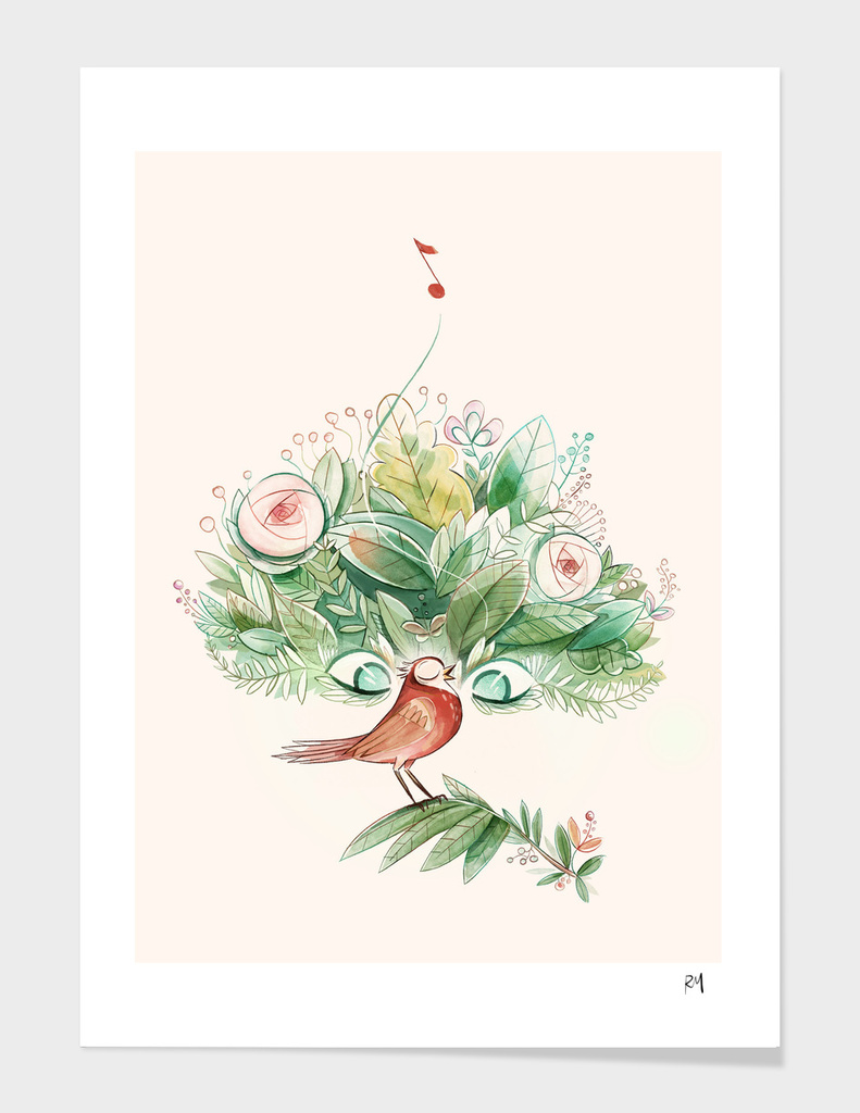 Hello spring! main illustration