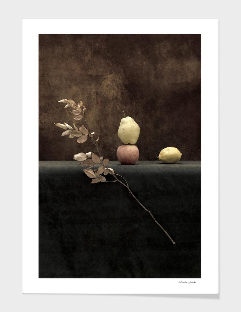 Pear, apple, lemon
