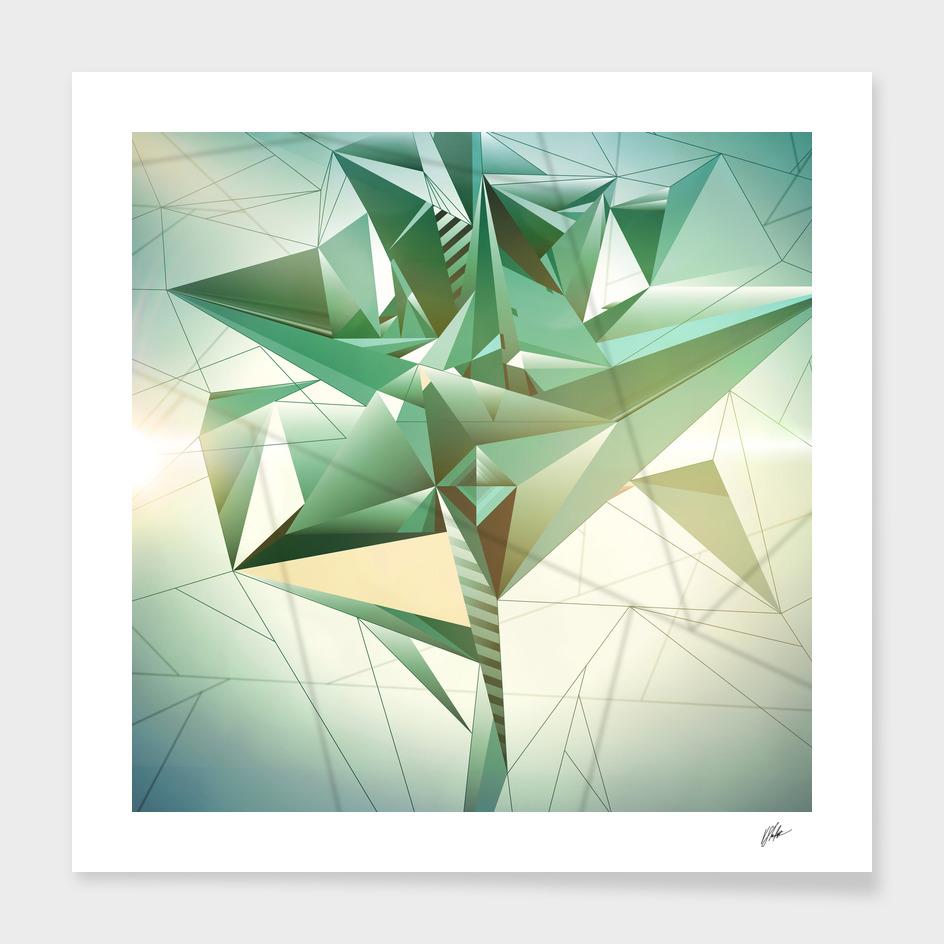 Fashion Green Triptych #01