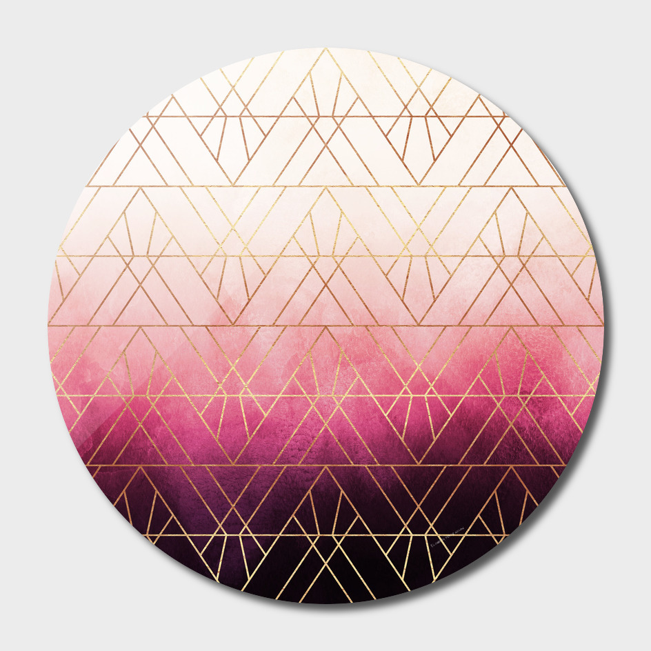 Pink Ombre Triangles main illustration