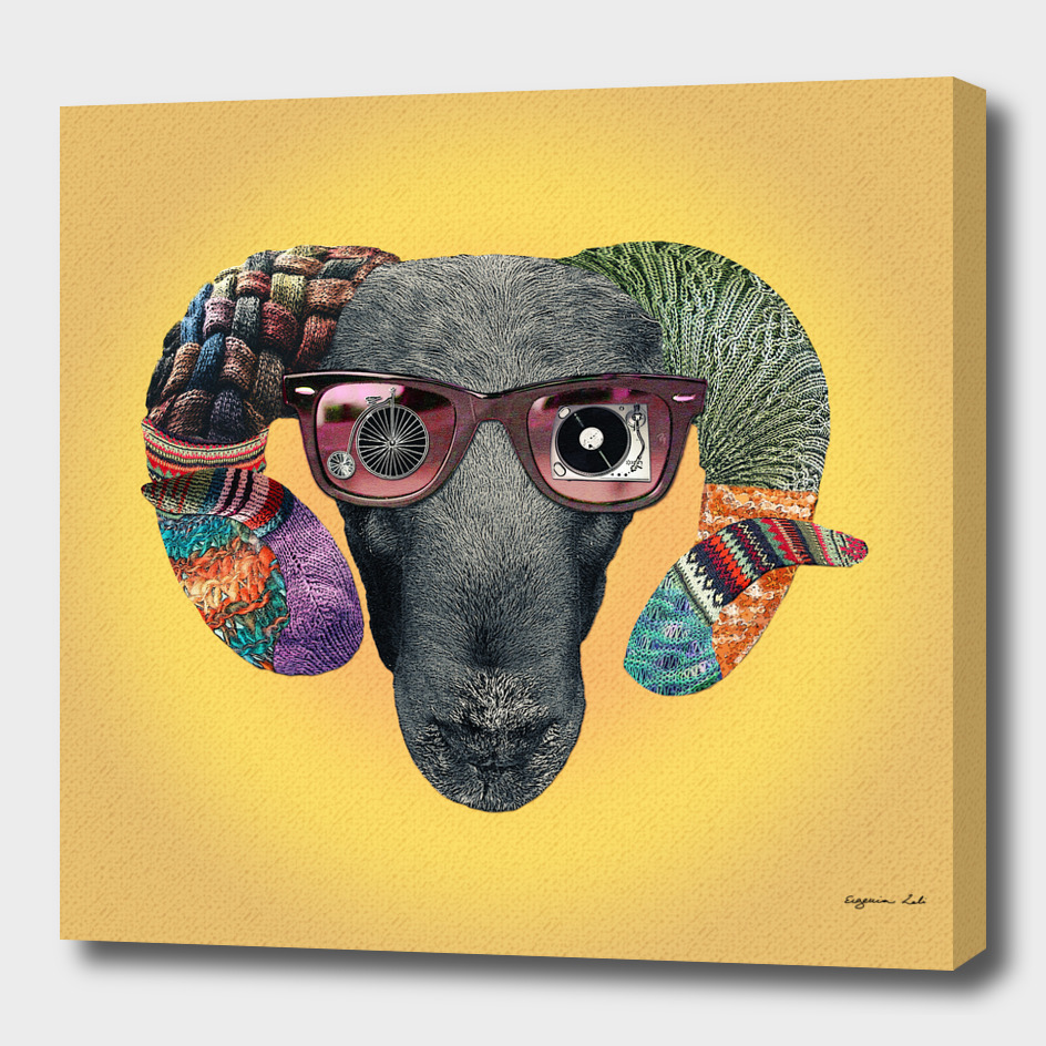 Hipster Sheep main illustration