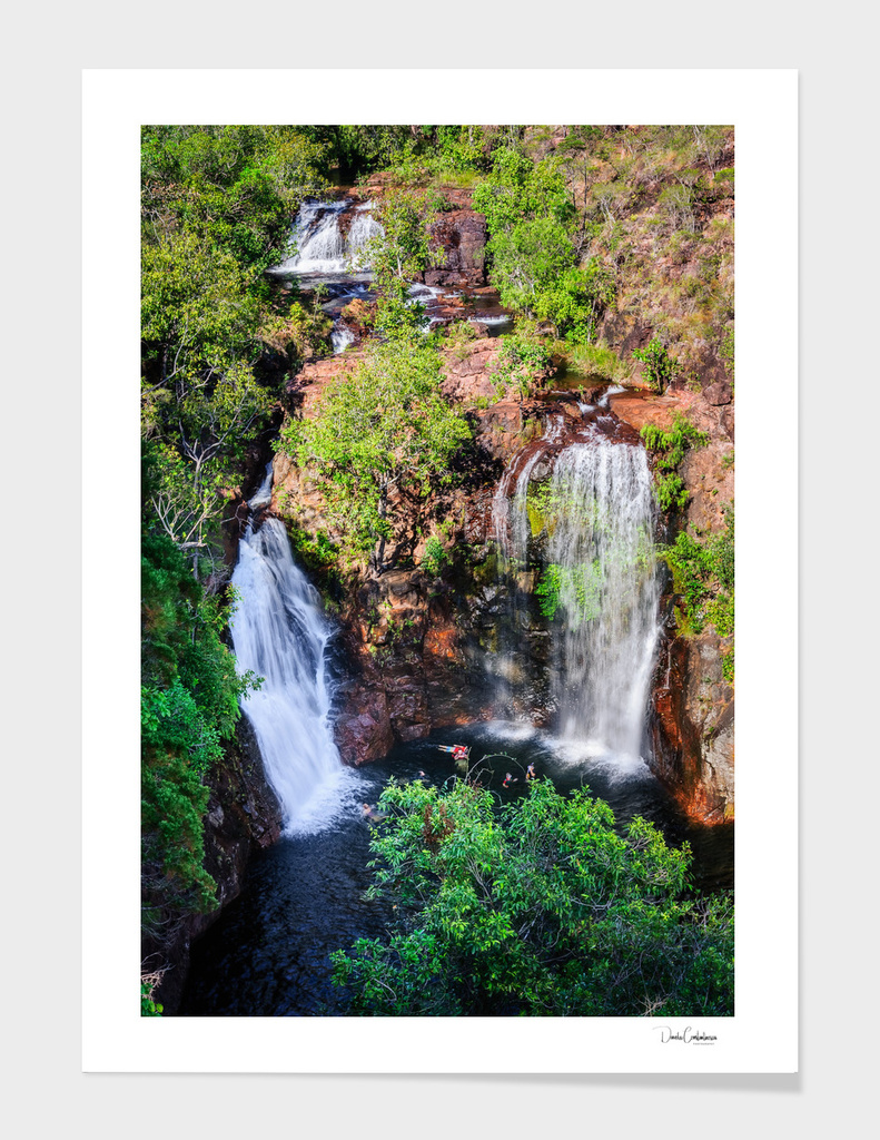 Florence Falls - view from above-NT, Australia main illustration