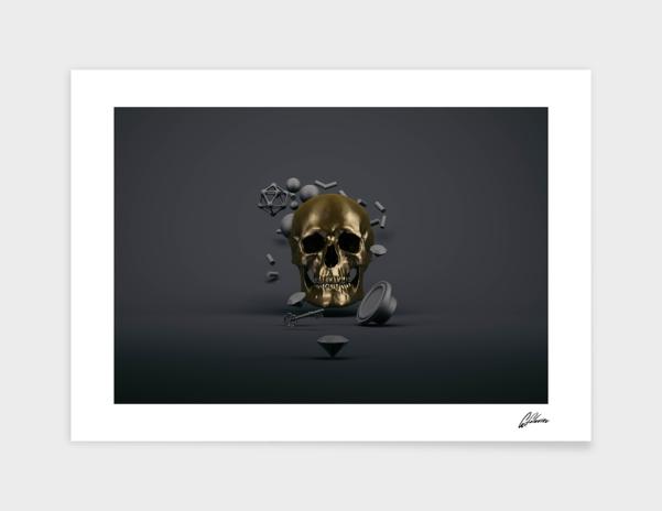 Gold Skull main illustration