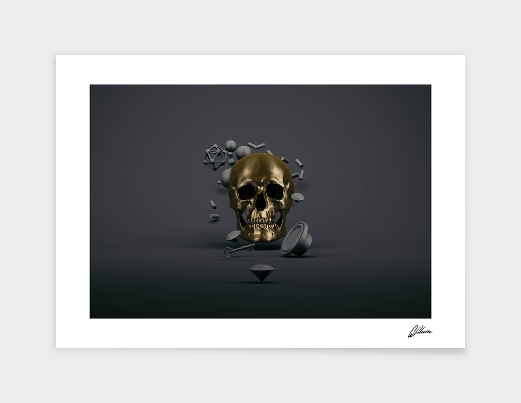 Gold Skull main illustration