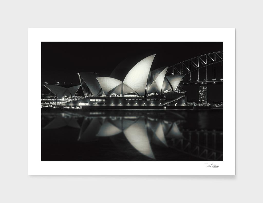 Quiet night at Sydney Opera House